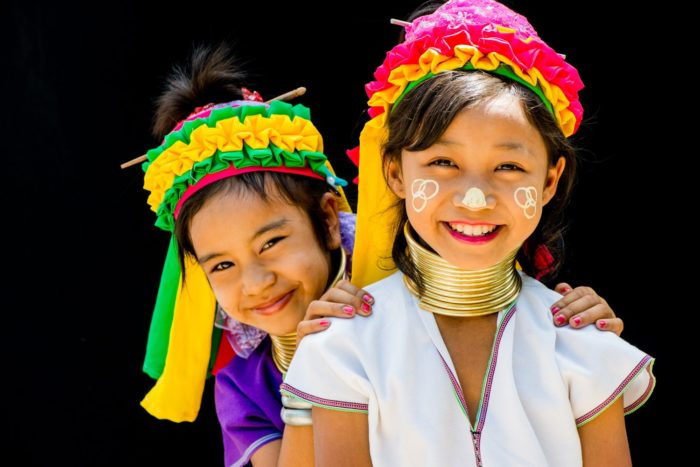Two Kayan Long Neck Girls photographed during a Chiang Mai Photo Workshop