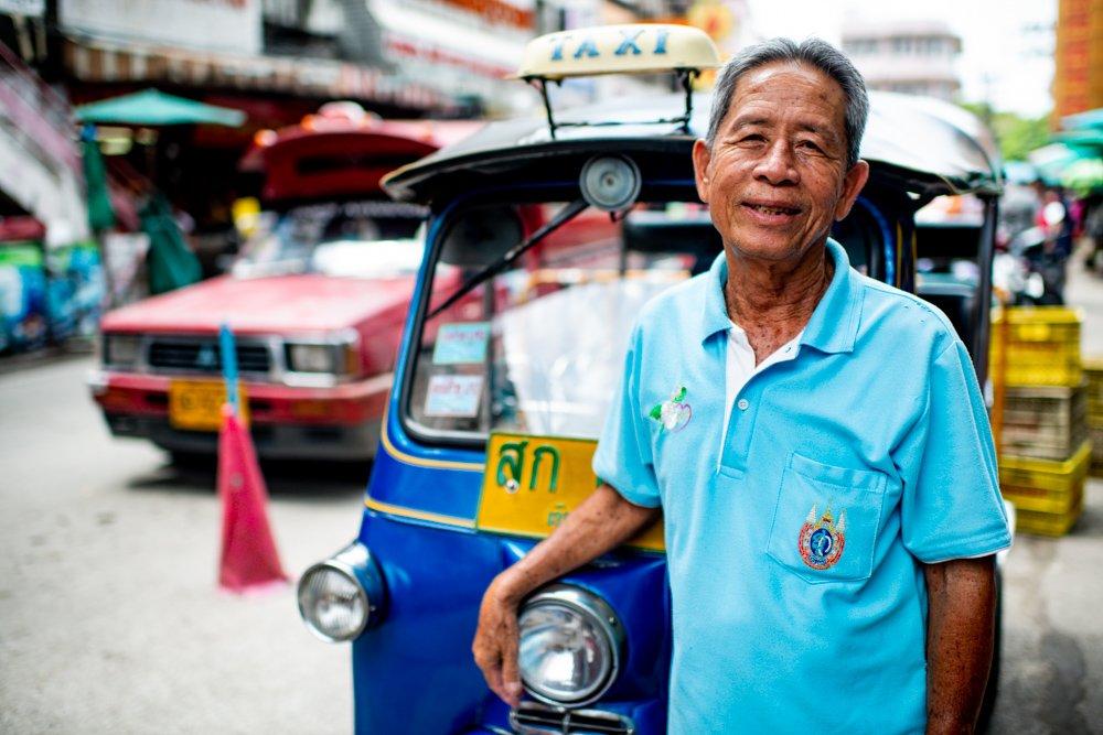 Chiang Mai Tuk Tuk Driver at Warorot Market