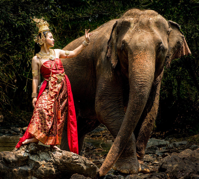 Portfolio of KevinLJ © Kevin Landwer-Johan Thai Model and Elephant