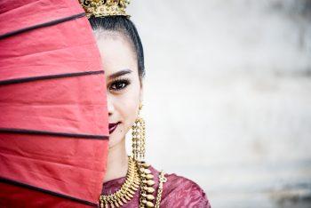 Thai Model Parasol Portrait KevinLJ